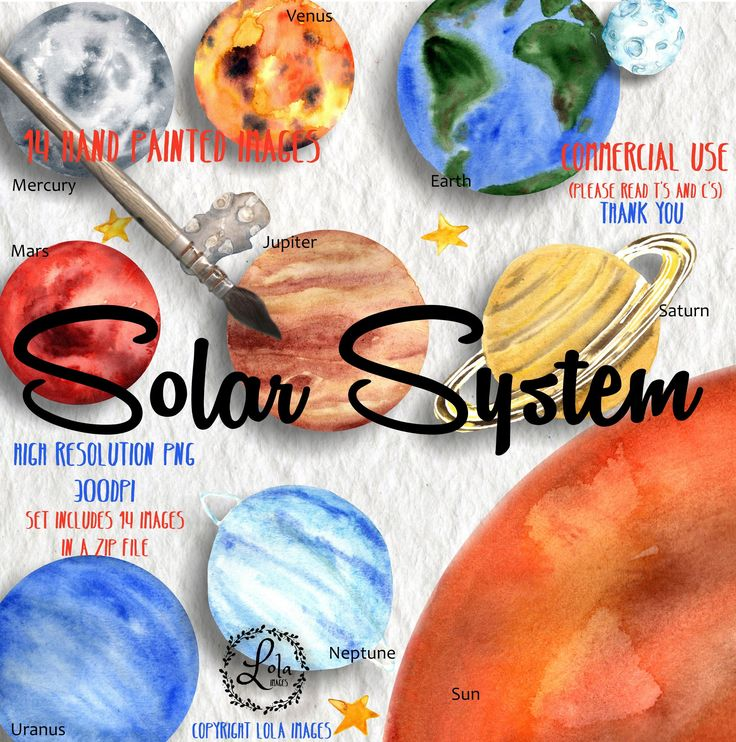 Excited to share the latest addition to my #etsy shop: Solar System Clipart | Space Planets Earth Sun Venus Mars Jupiter Saturn| Hand Painted Watercolor | Personal & Commercial Use | PNG Images http://etsy.me/2G1pQ4M #supplies #collage #watercolor #clipart #handpainted