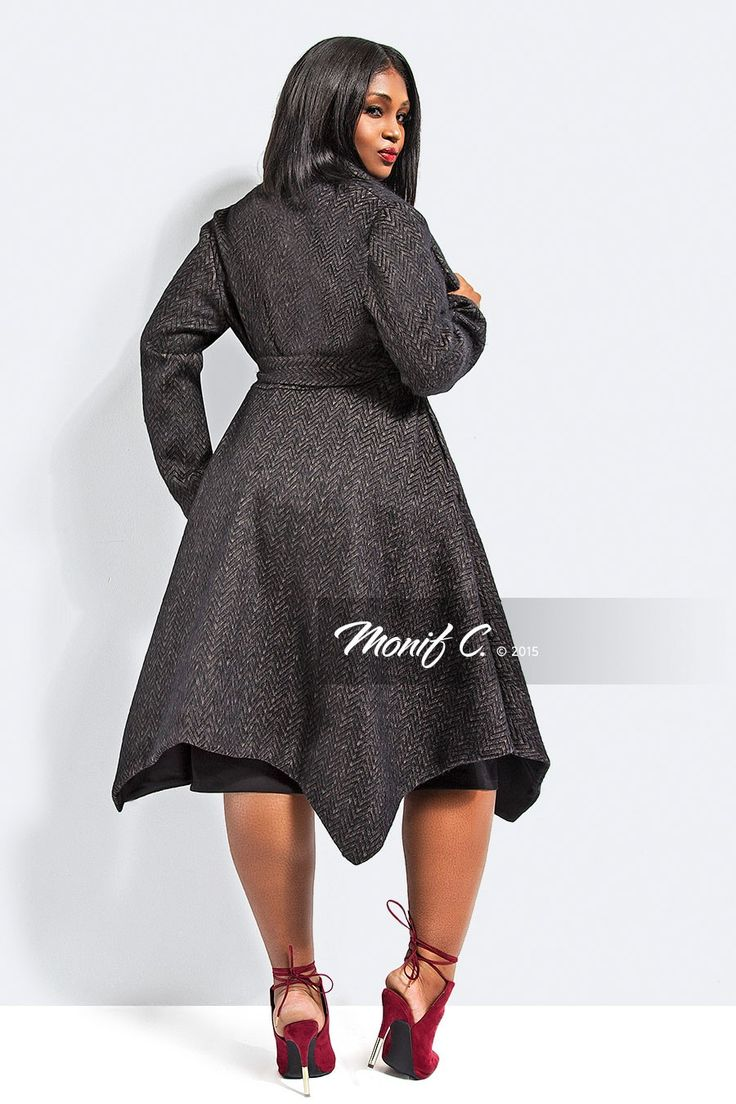 Monif C Chevron Gray...coat goals!!!