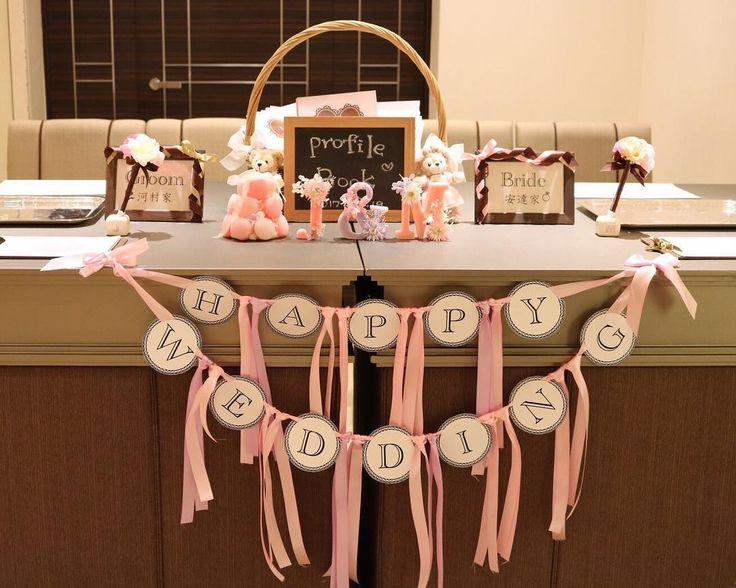 結婚式の受付スペースの可愛い装飾・飾り・デザインまとめ | marry[マリー]