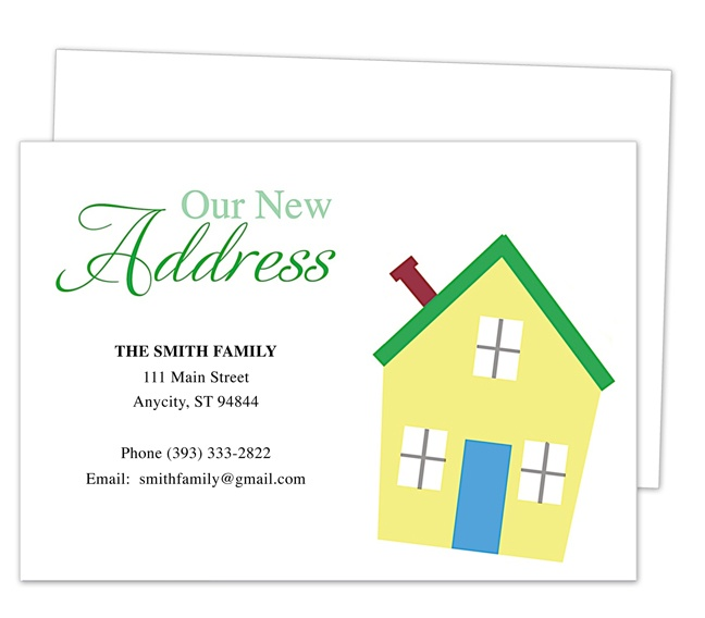 14 best images about Moving Announcements New Address Postcard – Address Change Template