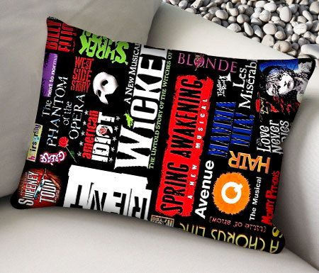 Broadway Musical Collage Pillow Case , Pillow Cover , Styles Pillow , Retro Pillow , Bedroom. on Etsy, $14.00