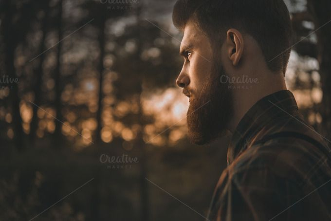 Brutal bearded man by 2BigPixel Photography on Creative Market #beard #hair #barber #stockphoto