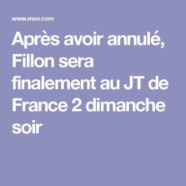 Après avoir annulé, Fillon sera finalement au JT de France 2 dimanche soir