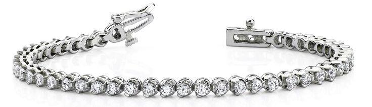 Diamant Armband mit 5.00 Karat Diamanten aus 585er Weißgold