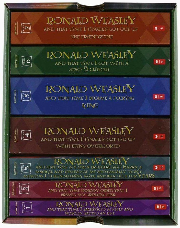 "Ron Weasley titles - I don't think Ron would use the F word.  Much too American.  It should say ""bloody king"" instead."