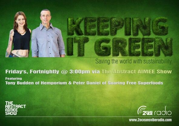 New Show on #sustainability & #conservation with Tony Budden of the #Hemporium : coming soon!