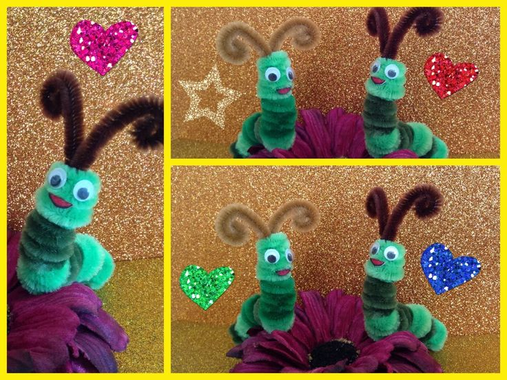 GUSANITO HECHO CON LIMPIA PIPAS. PIPE CLEANER CATERPILLAR .