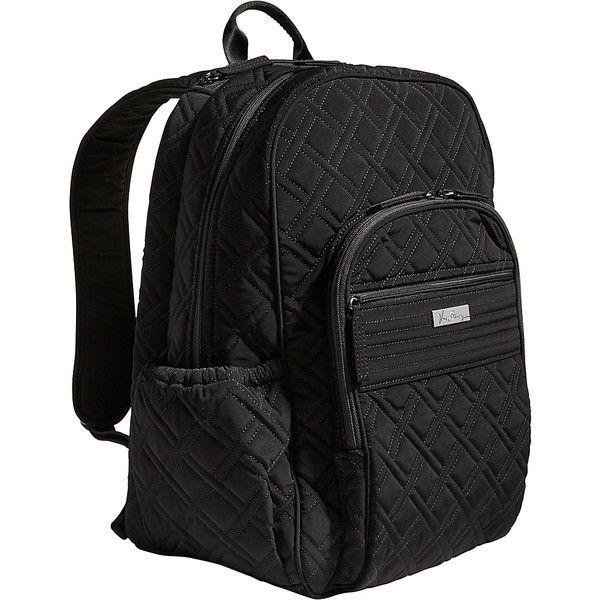 Vera Bradley Campus Tech Backpack ($138) ❤ liked on Polyvore featuring bags, backpacks, black, vera bradley bags, mesh backpack, mesh bag, zipper bag and vera bradley backpack