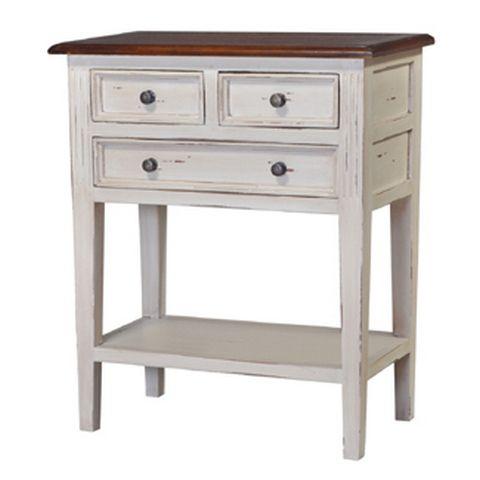 Eton 3 Drawer Side Table