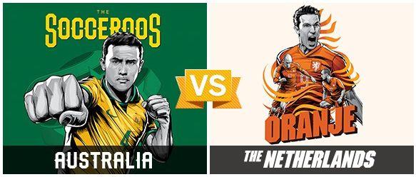 GRUPO B / #AUS vs #NED (2 - 3) / 18.06.14 / Estadio Beira-Rio (Porto Alegre)