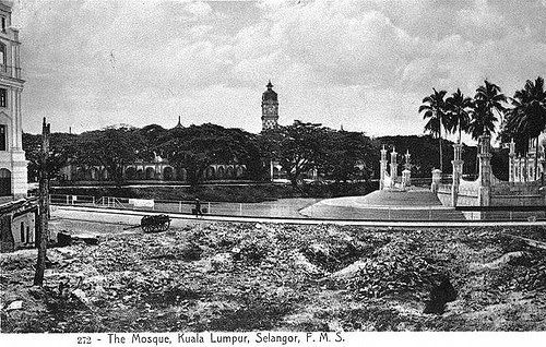 View of Masjid Jamek (right) looking torwards Sultan Abdul ...