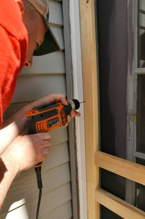 Discover how to install a screen door.