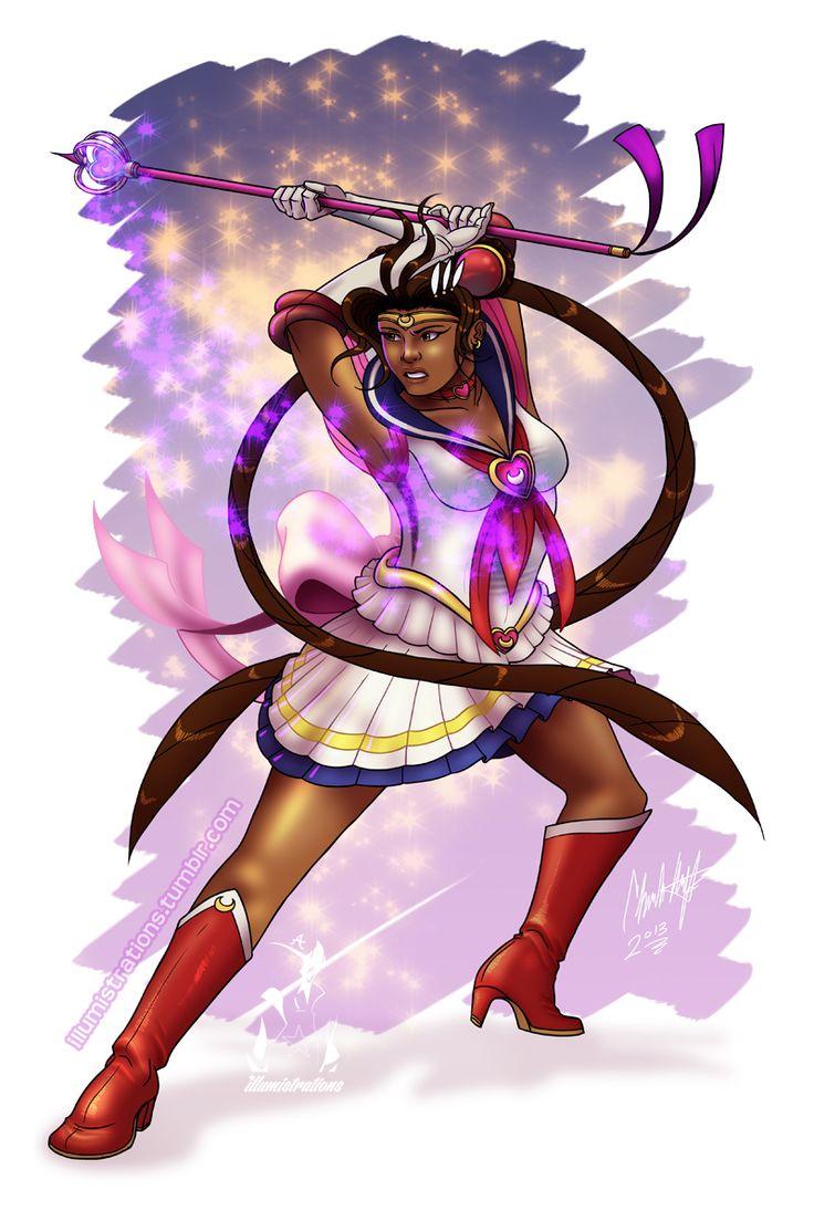 Black sailor moon cosplay