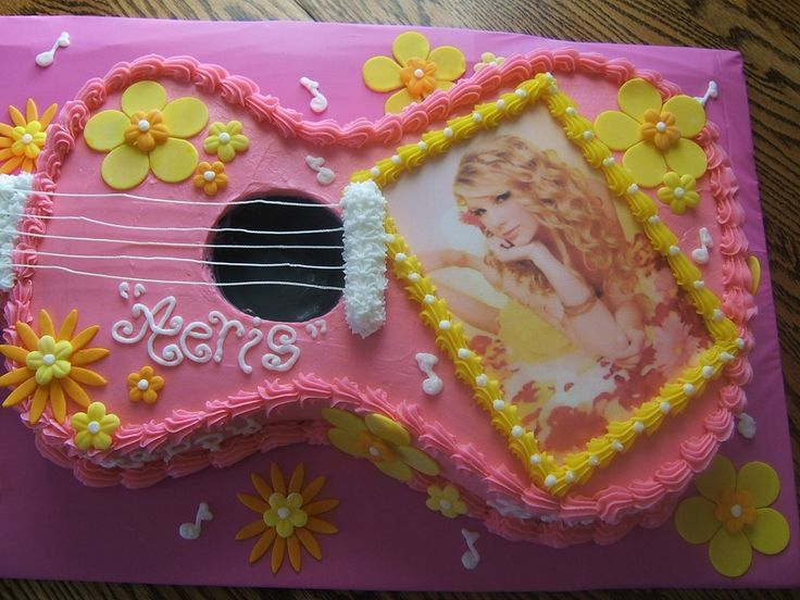 Taylor Swift Guitar Cake — Birthday Cakes