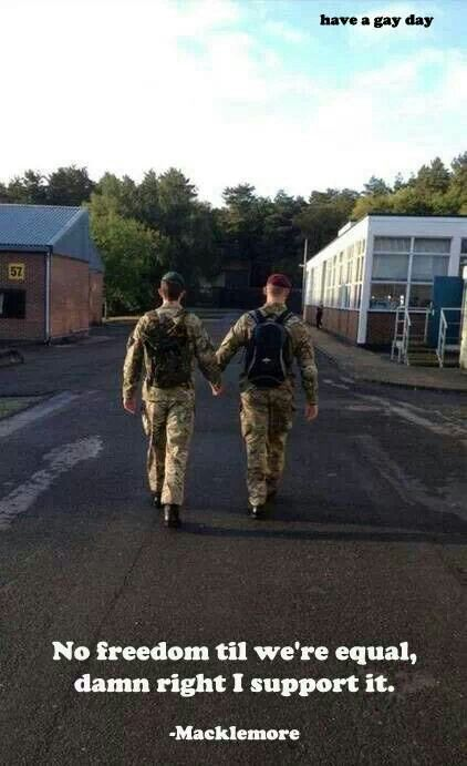 Military gay love