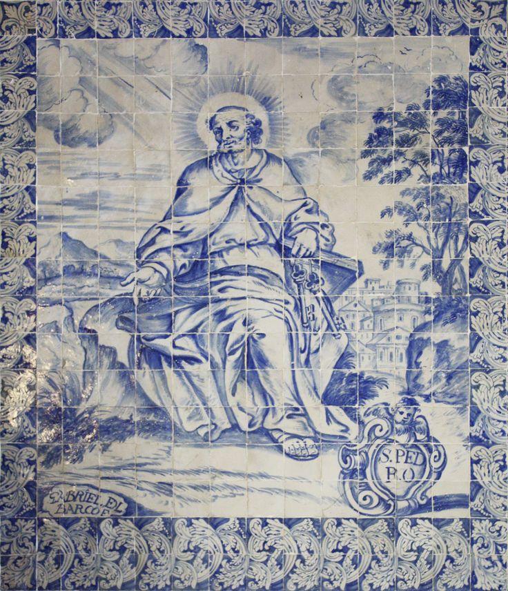 Gabriel del Barco | Arraiolos | Convento dos / Convent of Lóios | 1699-1700 #Azulejo #AzulejoDoMês #AzulejoOfTheMonth #Santos #Saints
