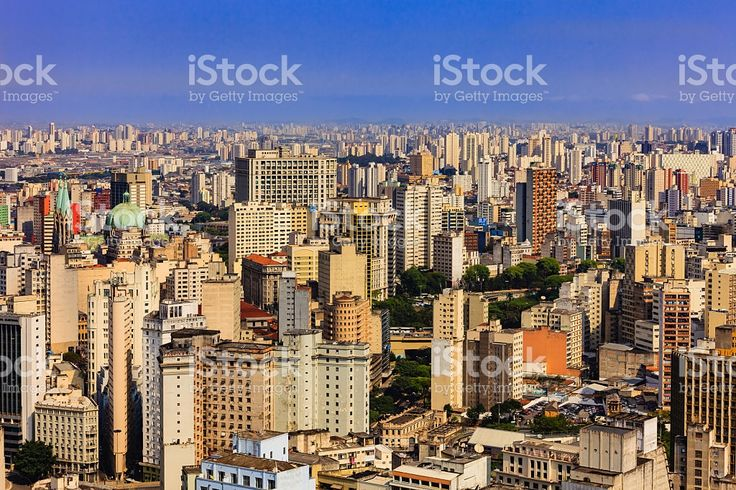 Brazil - Sao Paulo, South America's largest city royalty-free stock photo