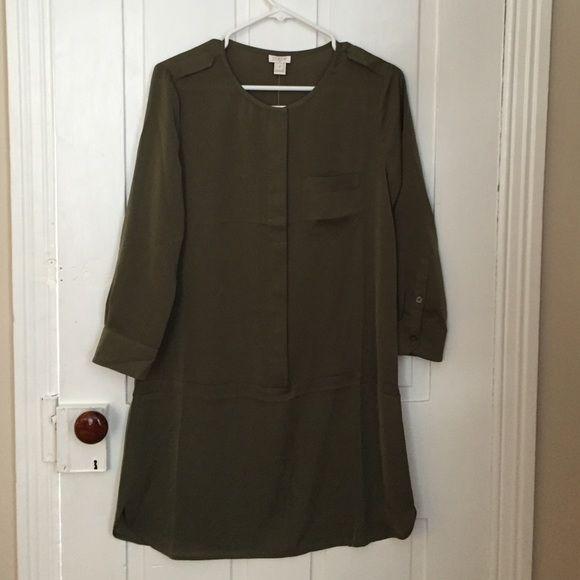 J crew dress size 2. Brand new Olive green dress size 2 J. Crew Dresses Long Sleeve