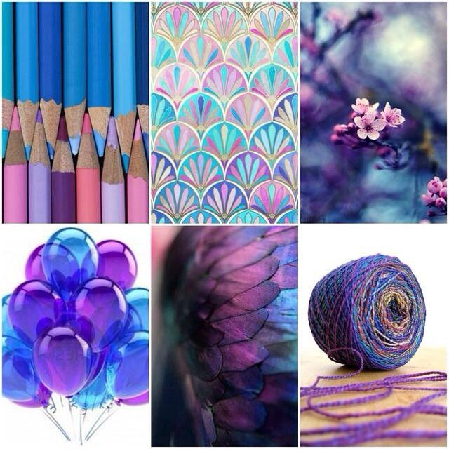 Mood Board Monday - blue to Purple love.  #moodboardmonday #tanisfiberarts