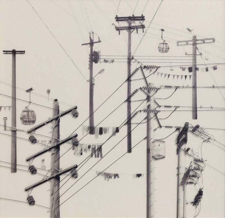 """Tang Kwok Hin (Hong Kong, 1983) es un artista de medios mixtos, curador independiente y escritor que ha realizado numerosas exposiciones de su trabajo en Asia y en el extranjero. """"Su enfoque artístico (es) en la ocasión, el espacio, el tiempo y la manera de encontrarse con símbolos para explorar reglas ocultas en que viven y el contexto de la libre expresión como el collage existente """" .  'Ojos Compuesto """"es una continua serie que comenzó en 2012, creado con collages BW-impresión adhesiva…"""