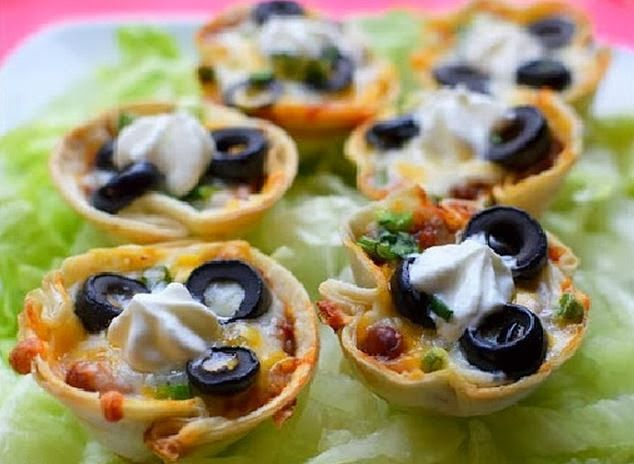 Ingredients: - 3-4 Tortilla Shells - 2 cans of chilli - 1 cup shredded cheese - Black olive - 3/-4 green onions - 1/2 cup s...