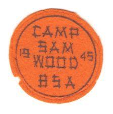 BSA Boy Scout Patch - Camp Sam Wood, 1945 - on felt