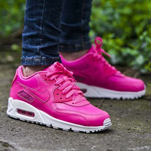 newest collection d3ef0 cc2d2 ... NIKE AIR MAX 90 LEATHER GS PINK POW WHITE ROSE 724852 600  129   Nike  Air