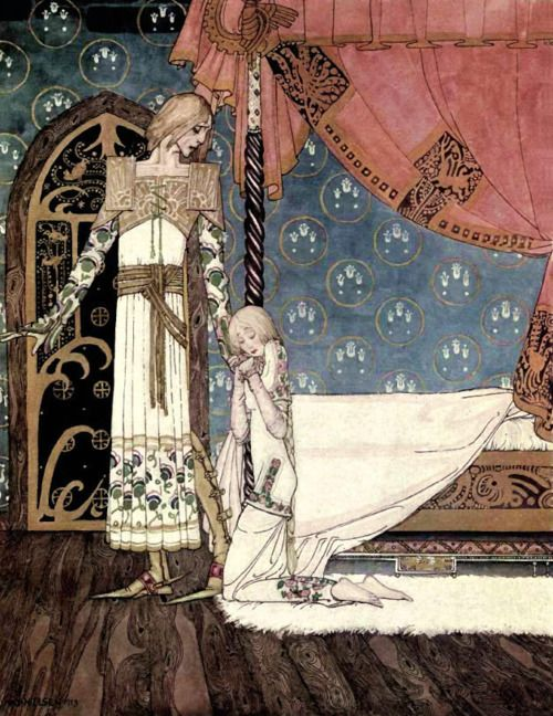 """""""Lovers""""  """" East of the Sun and West of the Moon (1914) """"  by Kay Nielsen  Courtesy of  Laberintosyquimeras"""