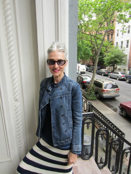 Linda Rodin - classic casual perfection: I love this look!