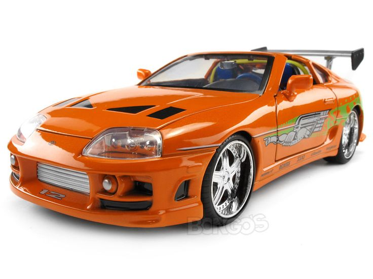 Brian's orange 1995 Toyota Supra diecast model car by Jada from The ...
