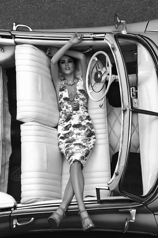 Ana Rosa-How would you like to find that in your front seat in the morning! More from Cars & Girls! LL:)