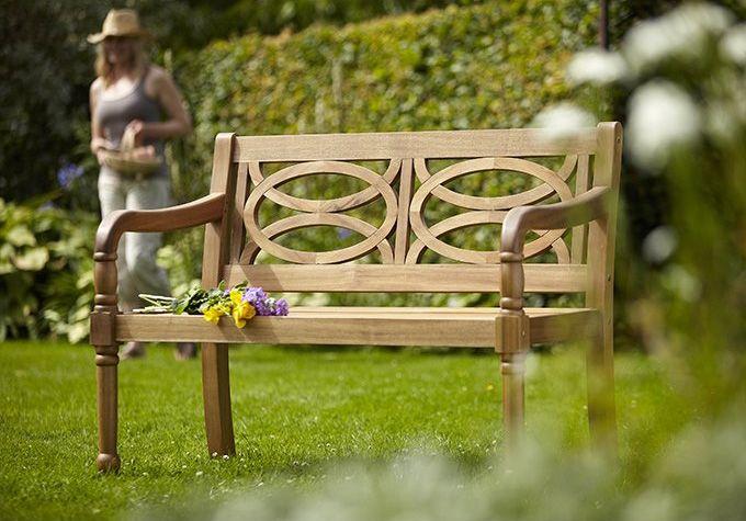 Hartman Cleobury 2 Seat Bench With Free Brass Plaque U0026 Cushion Link: Http:/