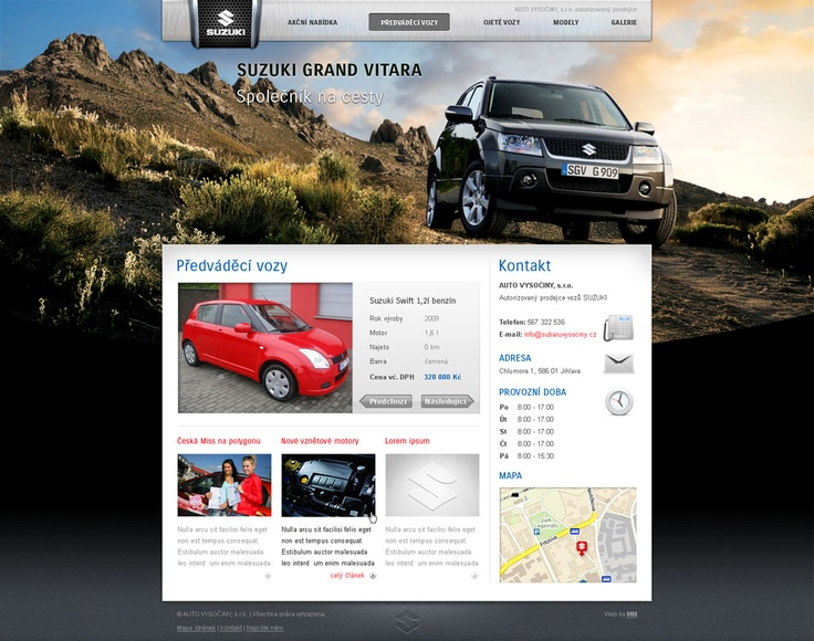 Complete website design for Suzuki cars dealer