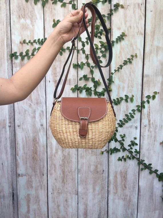 Cute Small Straw Bag   straw handbag   Summer Hand bag   straw tote   straw purse  Shoulder Bag   sea 75bb68c9b7e64