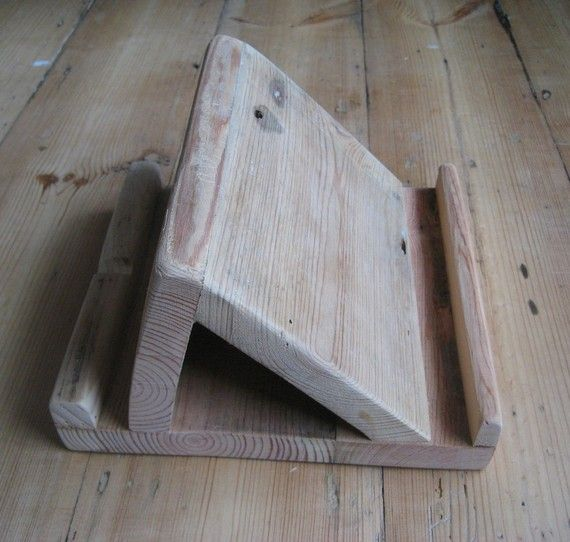 iPad Tablet Stand in Reclaimed Timber by truecolour on Etsy