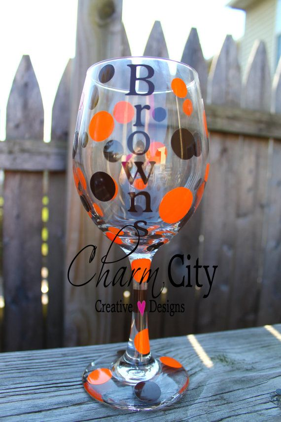 Cleveland Browns Personalized Wine Glass 20 oz Christmas, Sports, Holidays, Bridal, Wedding on Etsy, $12.00