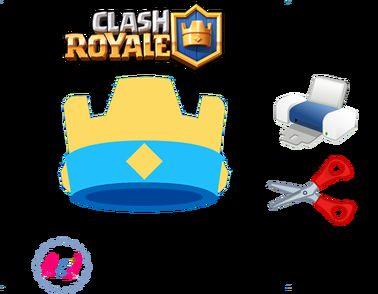 Clash Royale: Imprimibles para fiestas (invitación, corona, banderines…)