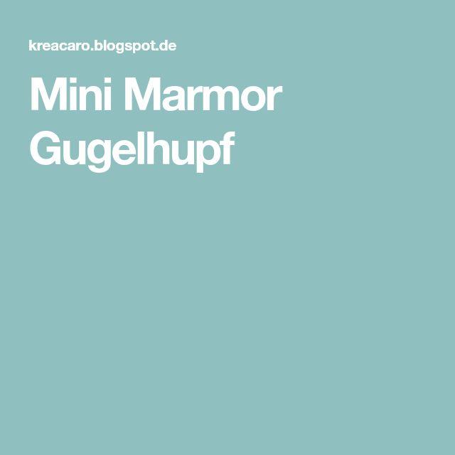 Mini Marmor Gugelhupf