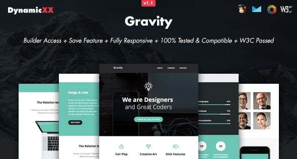 Gravity - Responsive Email + Online Builder