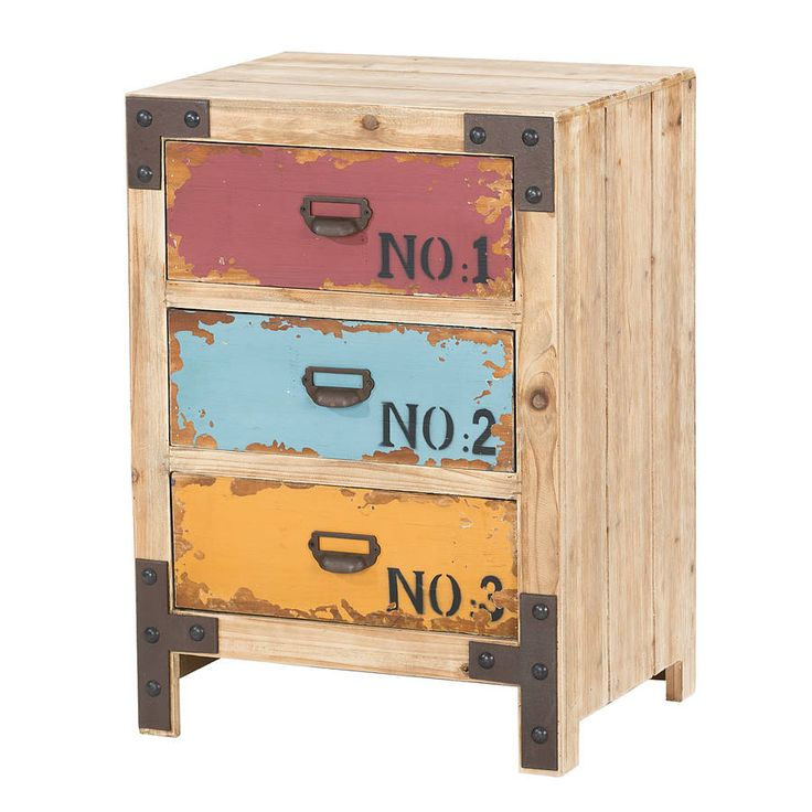 distressed painted three drawer cabinet by out there interiors | notonthehighstreet.com