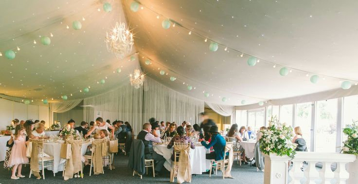 Lanterns & festoon lights help to create a festival vibe to your day!
