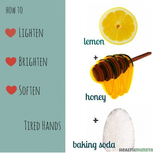 Tired, dull and discoloured hands? This is the perfect homemade remedy for you. soft hands/!!!!!