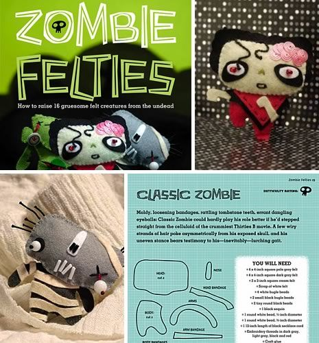 ZOMBIES!!! - i've made a couple of these from this book -simple instructions and really really cute
