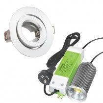 VoltiDEALS: Nelson - 12W LED Downlight Kit Gimble 3000 K White FP
