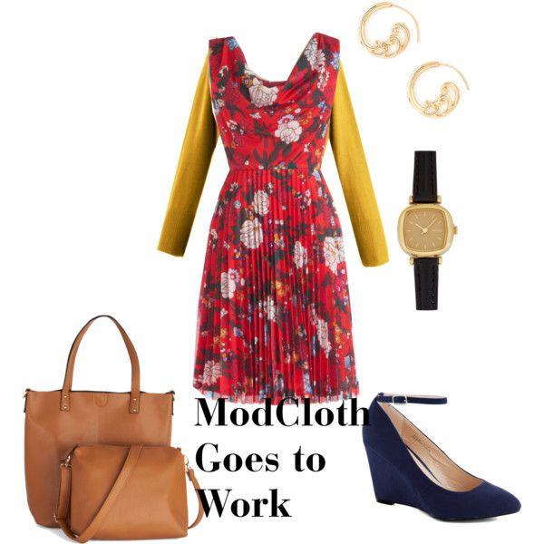 One @ModCloth dress three ways - Work