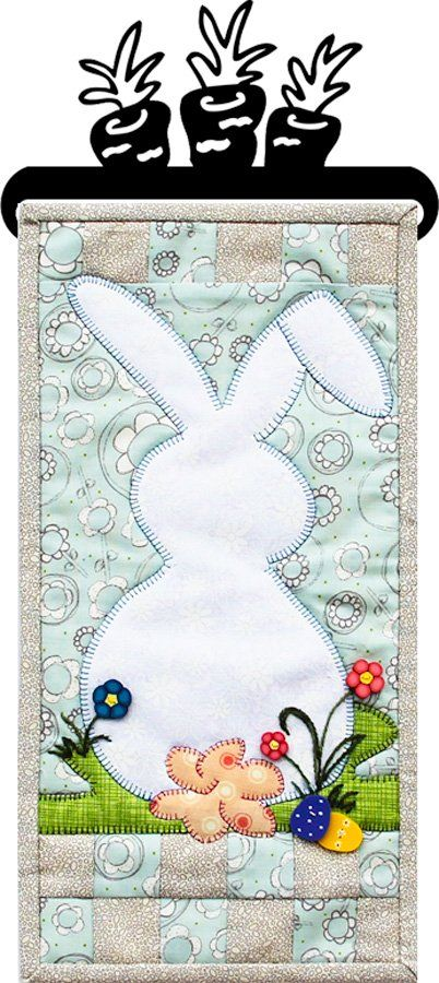 This is the April design of the Monthly Mini Series 8. Our new pattern format including complete quilting and binding instructions makes these PERFECT one-day projects for any skill level. Don't forget the matching buttons hanger or stand with header!
