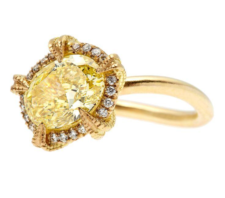 Kristin Hanson Starfish Canary Yellow Diamond Engagement Ring
