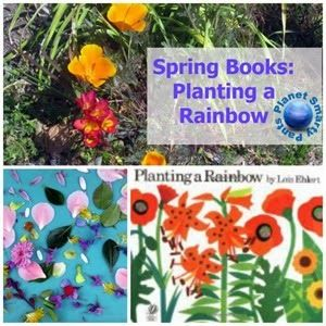 Spring Books for Kids and a color hunt + craft for preschoolers