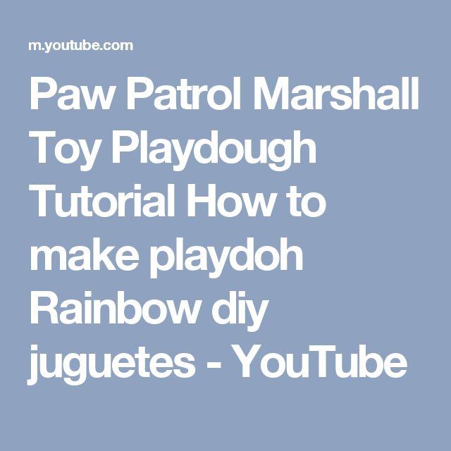 Paw Patrol Marshall Toy Playdough Tutorial How to make playdoh Rainbow diy juguetes - YouTube
