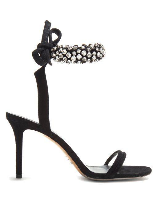 20cf35d218f ISABEL MARANT Alrin crystal-embellished sandals.  isabelmarant  shoes